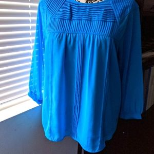 ⚡3/$20⚡ Beautiful top with pleated detailing sz:S